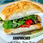 Roasted Vegetable Sandwich with White Bean Pesto