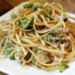 Chicken and Broccoli Pasta with Oil and Garlic Sauce