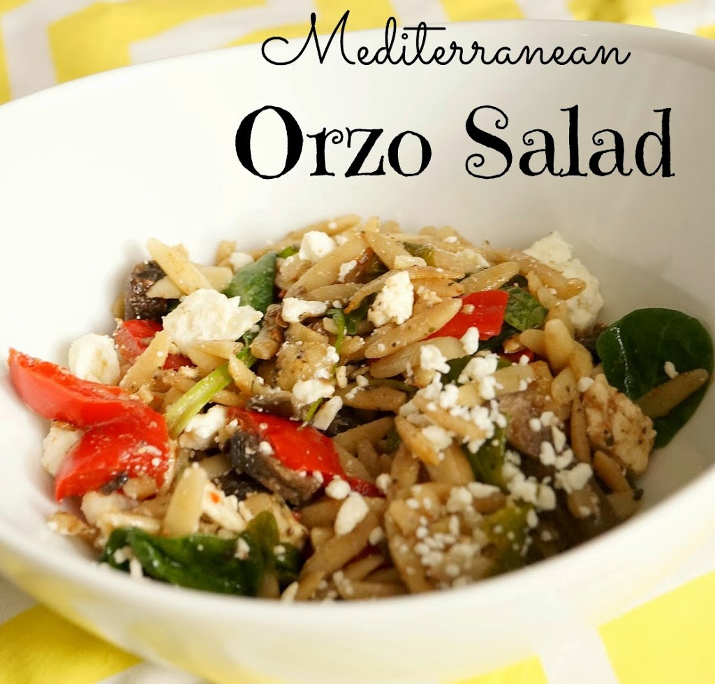 Mediterranean Orzo Salad with Roasted Vegetables