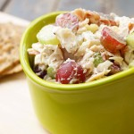 Almond Chicken Salad with Creamy Lemon Dressing