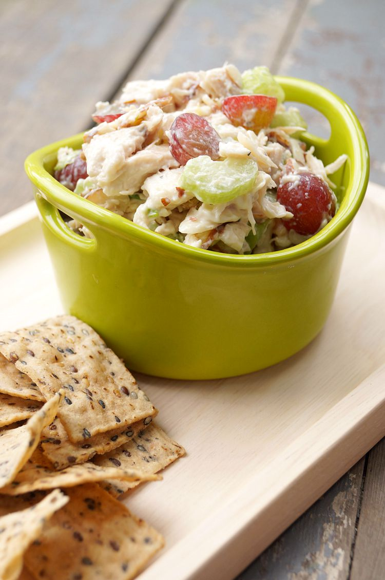 Almond and Grape Chicken Salad with Creamy Lemon Dressing