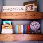 DIY Chunky Wood Floating Shelves