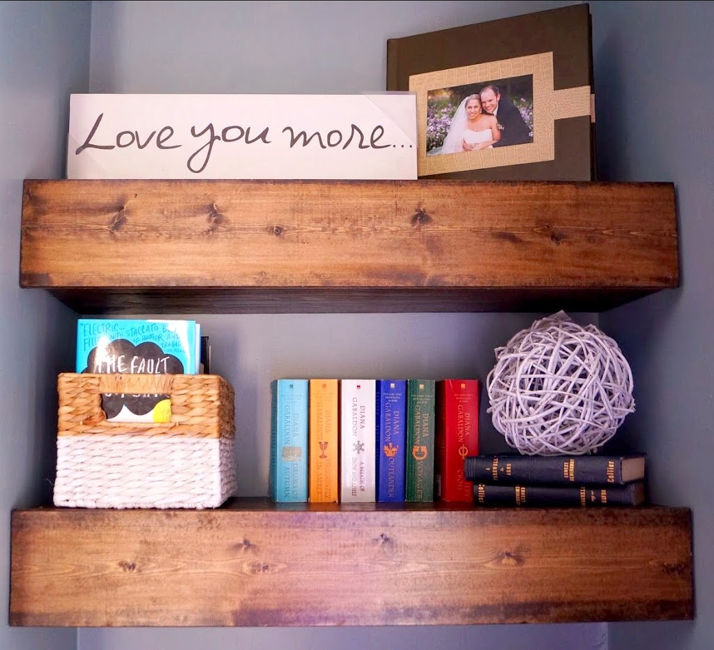 DIY Chunky Wood Floating Shelves