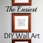 The Easiest DIY Wall Art