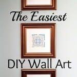 The Easiest DIY Wall Art