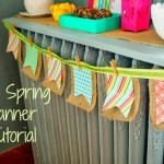 DIY Easy Spring Banner Tutorial