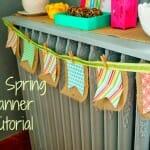 DIY Easy Spring Banner Tutorial
