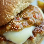 Chicken Burgers with Roasted Red Pepper Pesto