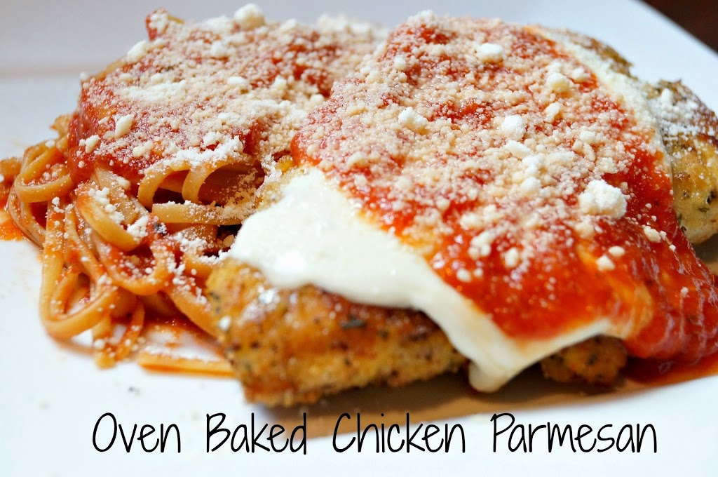 Healthier Oven Baked Chicken Parmesan