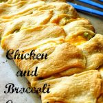 Chicken and Broccoli Crescent Braid