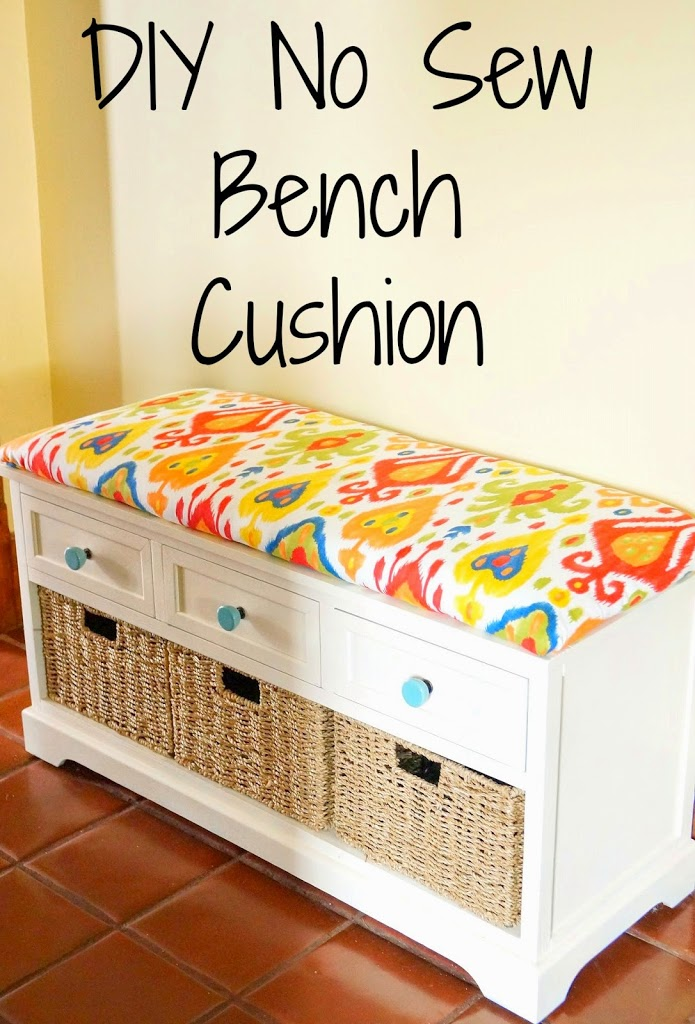 DIY No Sew Bench Cushion