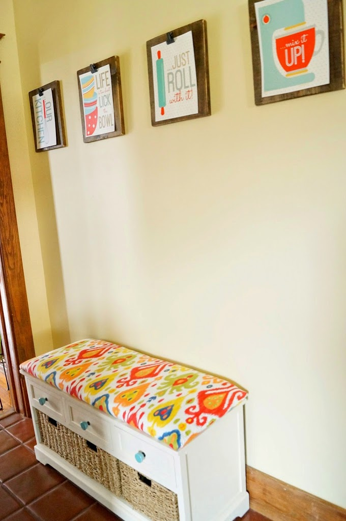 Kitchen Hallway Redo DIY Upholstered Bench