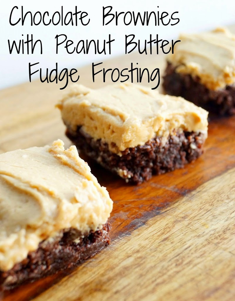Salted Peanut Fudge Brownies With Peanut Butter Frosting ...