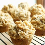 Chocolate Chip Zucchini Muffins with Oat Streusel Topping