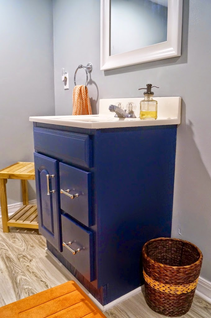 Painted Vanity Valspar Indigo Streamer