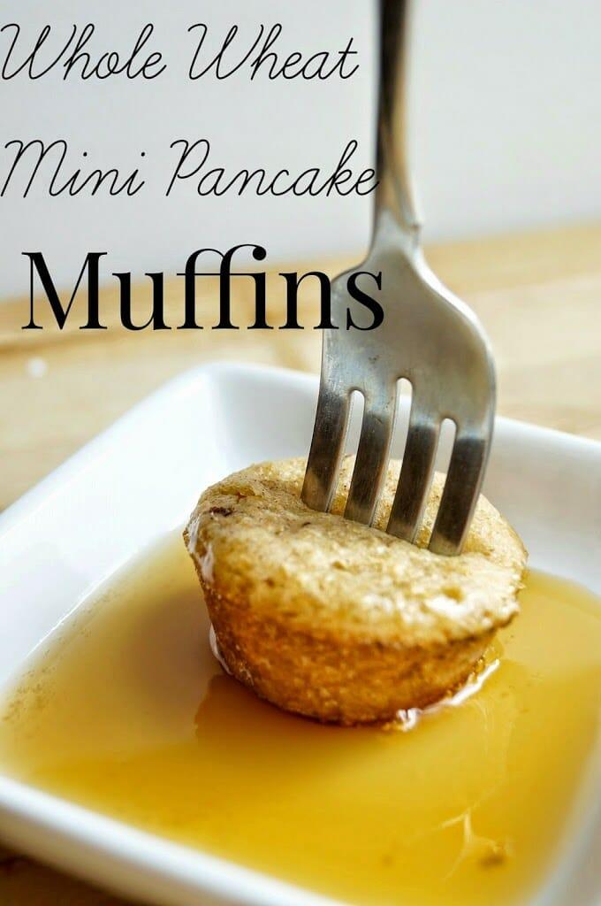 Whole Wheat Mini Pancake Muffins