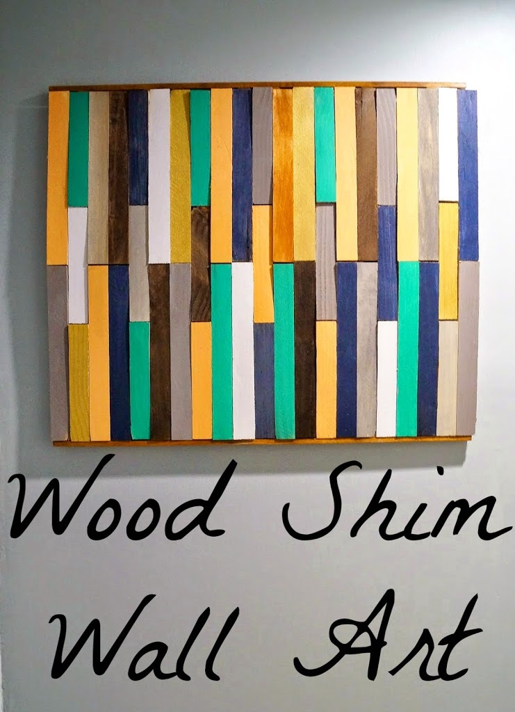 DIY Wood Shim Wall Art