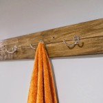 DIY Reclaimed Wood Bath Art and Towel Rack