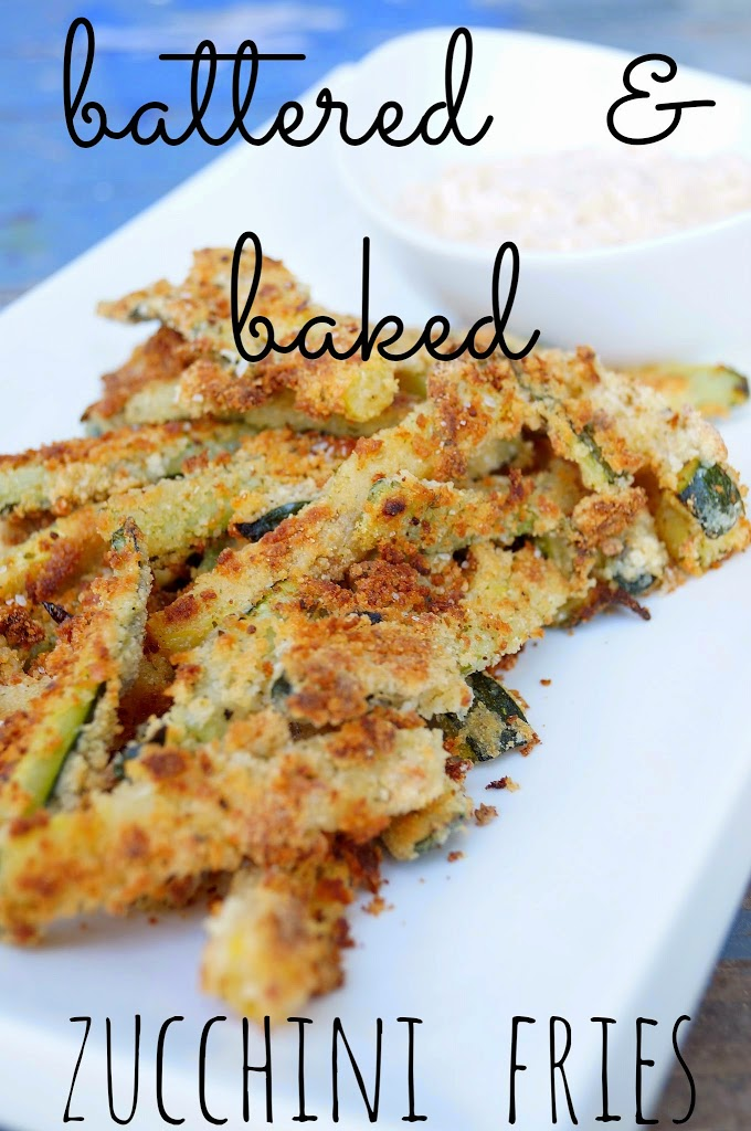 Battered and Baked Zucchini Fries