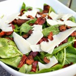 Spinach and Bacon Salad with Apple Cider Dijon Vinaigrette