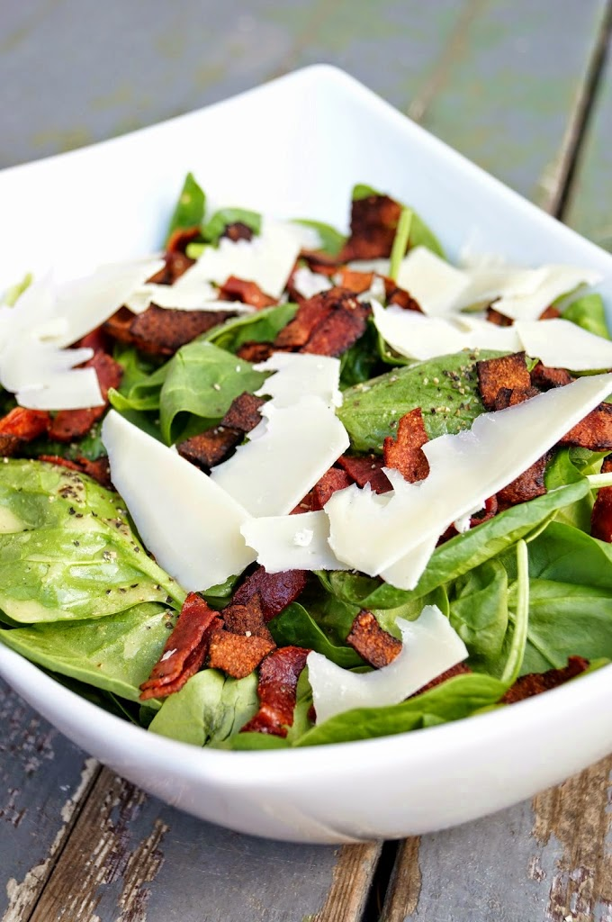 Spinach and Bacon Salad with Apple Cider Vinaigrette