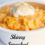 Skinny Mashed Sweet Potatoes, perfect for clean eating or the 21 Day Fix!