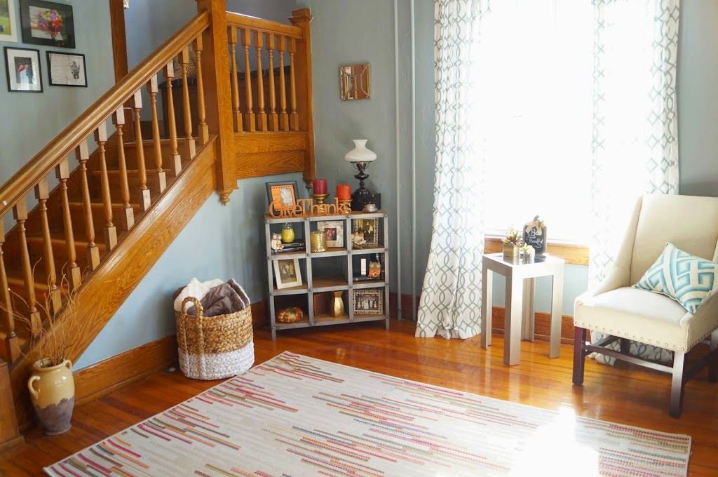 Large Foyer with Fall Decor