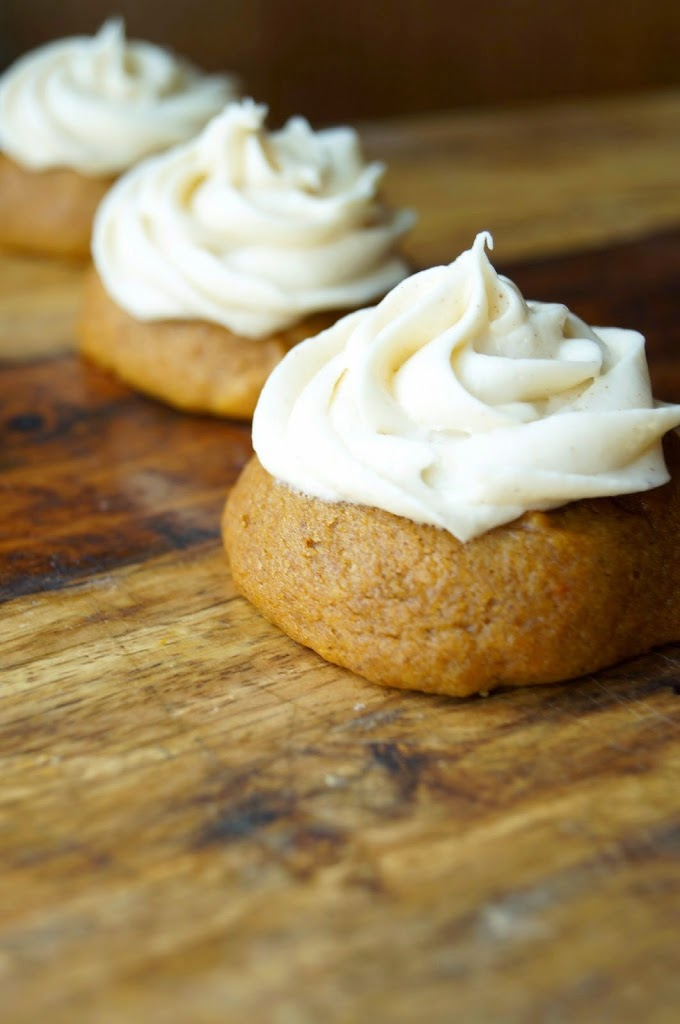Soft Pumpkin Cookies with Cinnamon Cream Cheese Frosting are the ...