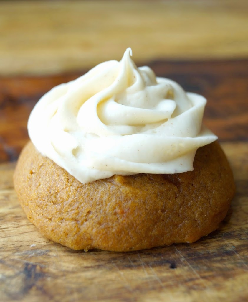 Soft Pumpkin Cookies with Cinnamon Cream Cheese Frosting