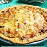 Roasted Vegetable and Mozzarella Quiche