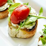 Herbed Ricotta Crostini with Marinated Tomatoes