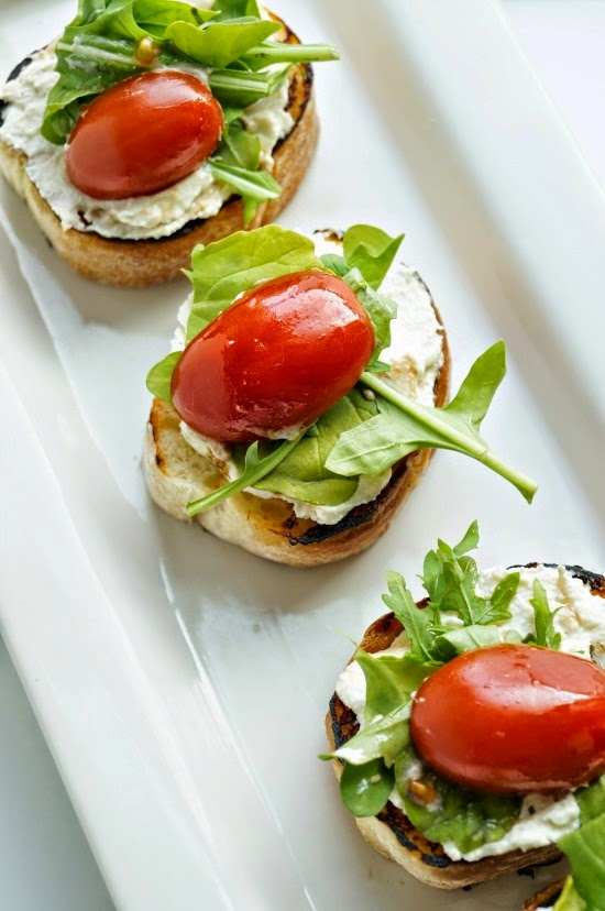 Herbed Ricotta Crostini with Marinated Tomatoes - Old ...