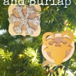 DIY Rustic Wood and Burlap Christmas Ornaments