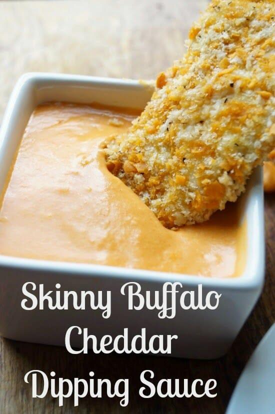 Skinny Buffalo Cheddar Dipping Sauce