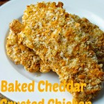 Cheddar Crusted Chicken Fingers with Whole Grain GoldFish Crackers
