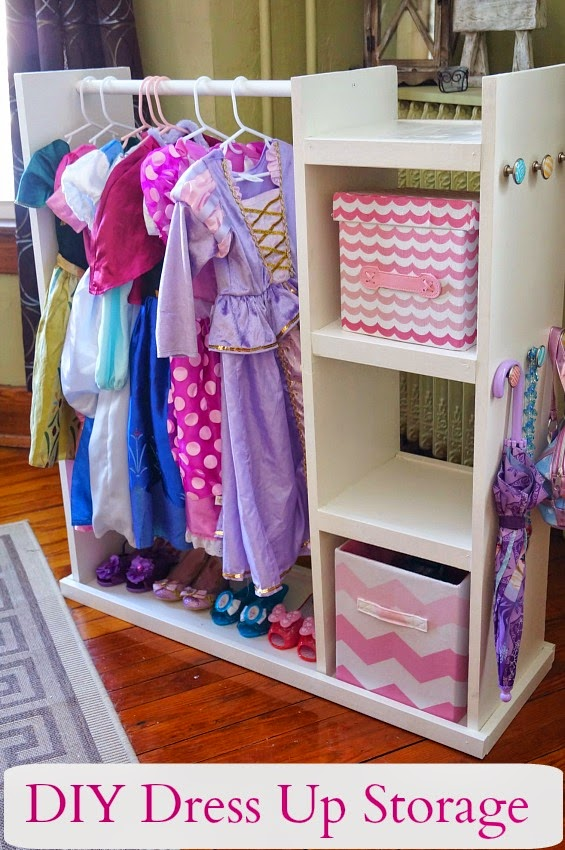 Easy and Inexpensive DIY Dress Up Storage Center