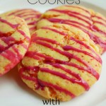 Cake Batter Cookies with White Chocolate Raspberry Icing
