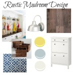 Rustic Mood Board for MudRoom