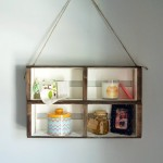 DIY Hanging Crate Wall Shelf