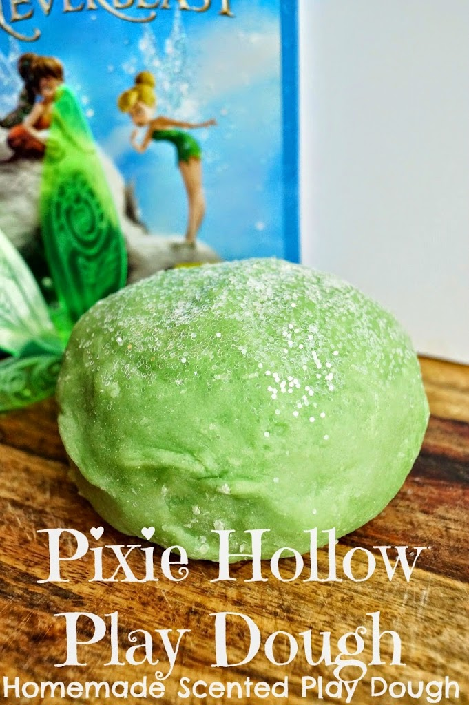 Tinker Bell's Pixie Hollow Play Dough A fun and inexpensive way to make homemade scented and glittery play dough!