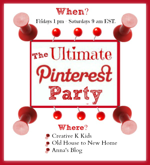 Link up two pins to The Ultimate Pinterest Party to get them pinned again!