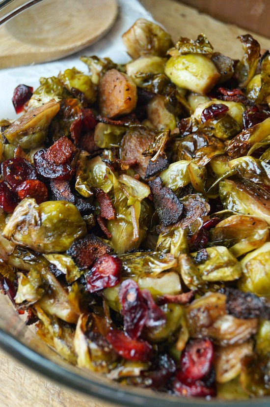 Maple Balsamic Roasted Brussel Sprouts with Bacon and ...