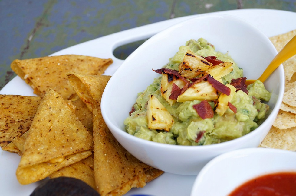 Grilled Pineapple and Bacon Guacamole