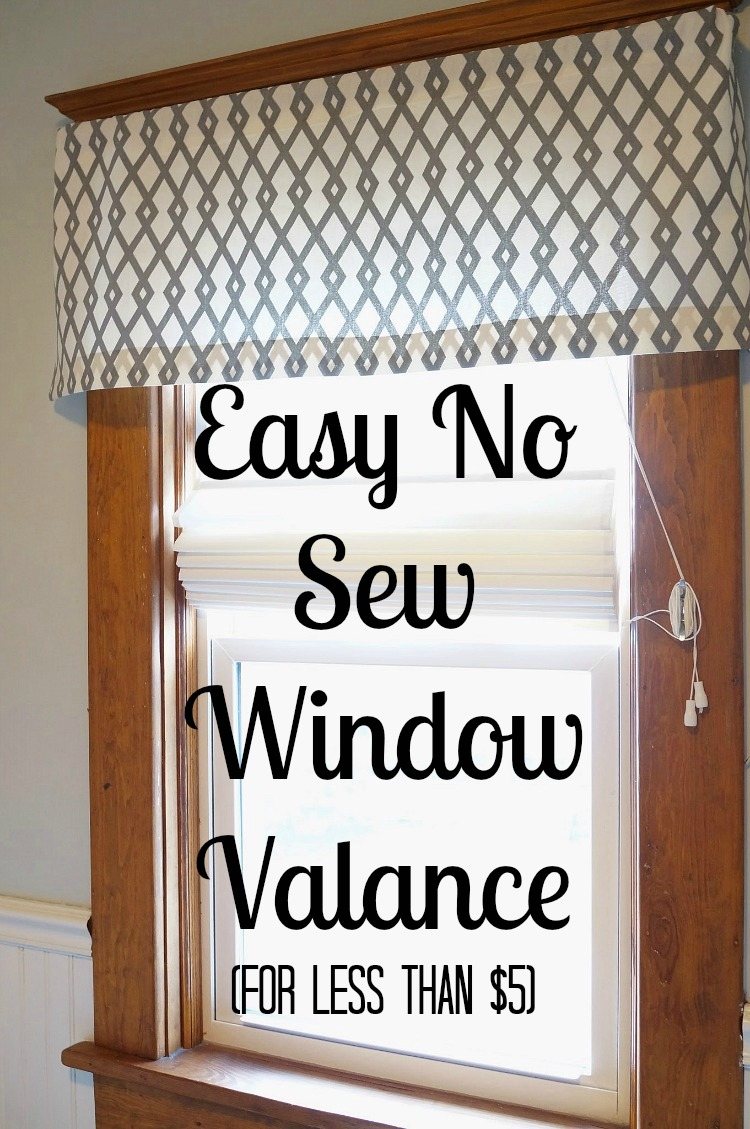 No Sew Cornice : Easy diy no sew window valance