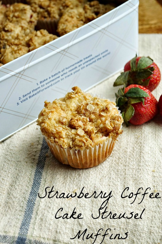 Strawberry Coffee Cake Streusel Muffins #ad #mccafemyway