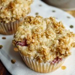 Strawberry Coffee Cake Streusel Muffins