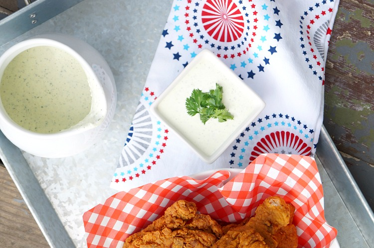 Spicy Cilantro Ranch Dressing is a delicious salad topping or dipping sauce for chicken!