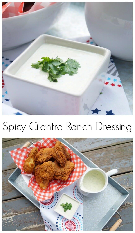 #ad Spicy Cilantro Ranch Dressing #Summeryum
