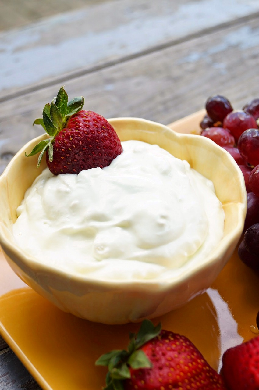 Easy Two Ingredient Key Lime Fruit DIp