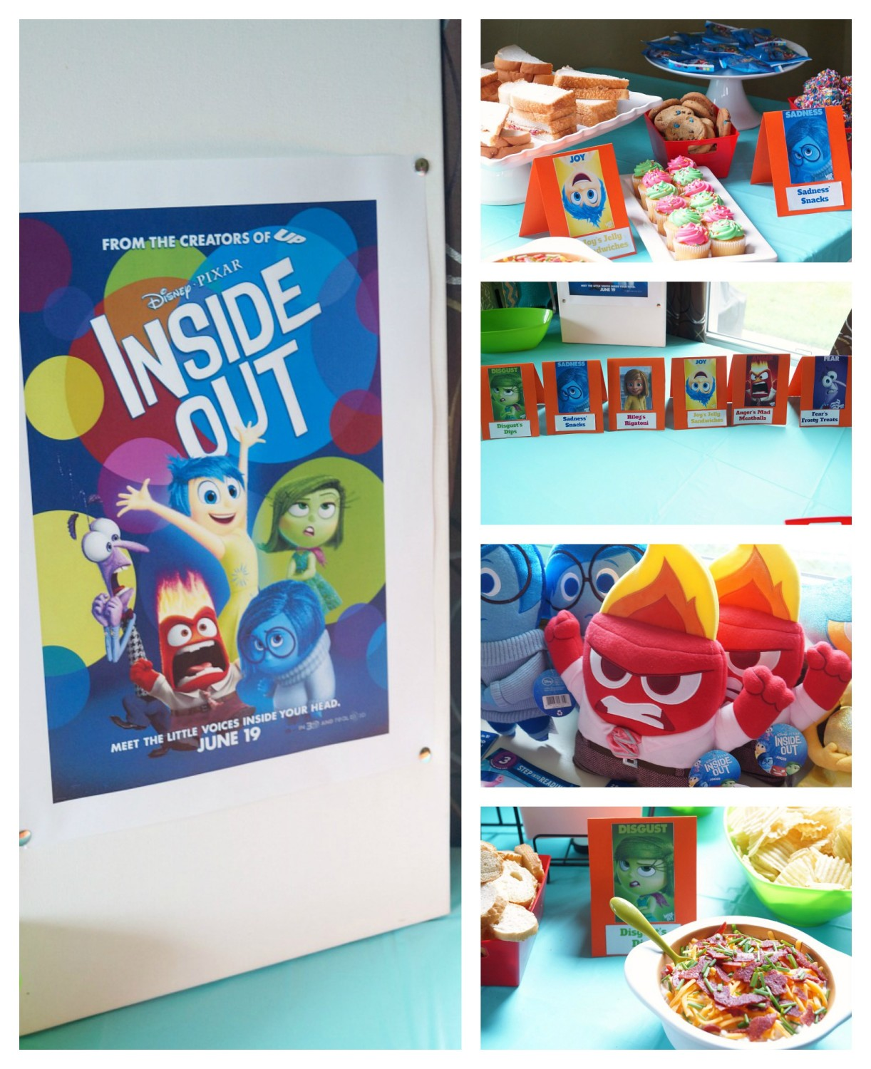 A fun and easy Inside Out Party to celebrate Disney's New Movie! #ad #InsideOutEmotions